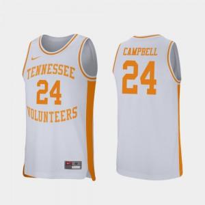 Men White Retro Performance College Basketball Lucas Campbell UT Jersey #24 276346-505