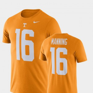 Tennessee Orange Mens Peyton Manning UT T-Shirt Football Performance #16 209537-298