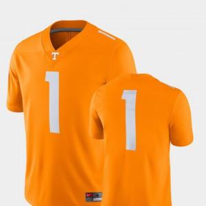 College Football 2018 Game For Men Tenn Orange #1 UT Jersey 135654-242
