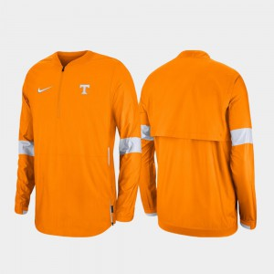 Mens Tennessee Orange Quarter-Zip 2019 Coaches Sideline UT Jacket 534491-512