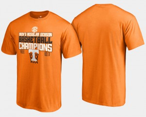 Men's Basketball Regular Season Tennessee Orange 2018 SEC Champions UT T-Shirt 242594-471