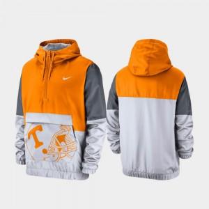 UT Jacket Men Quarter-Zip Colorblock Anorak Tennessee Orange 309790-701