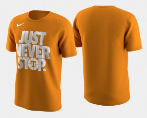 Tennessee Orange March Madness Selection Sunday UT T-Shirt Basketball Tournament Just Never Stop Mens 136463-606