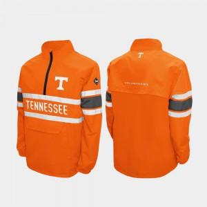 Tennessee Orange Men's UT Jacket Alpha Windshell Pullover Quarter-Zip 690960-204