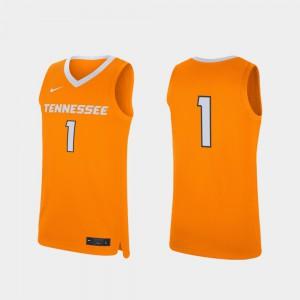 Replica UT Jersey Mens Tennessee Orange #1 College Basketball 237655-573