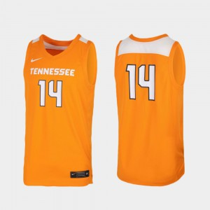 #14 For Men's Tennessee Orange Replica UT Jersey College Basketball 196555-245