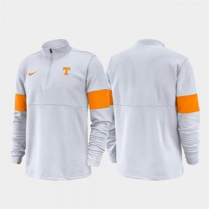 White UT Jacket For Men 2019 Coaches Sideline Half-Zip Performance 846441-409