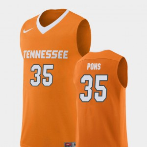 Orange Yves Pons UT Jersey #35 Replica College Basketball For Men's 113984-289