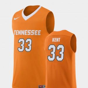 Zach Kent UT Jersey Replica #33 College Basketball Orange Men 146641-691