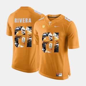 #81 Men Orange Mychal Rivera UT Jersey Pictorial Fashion 268103-896