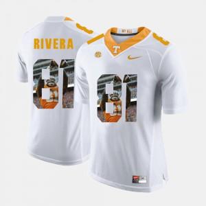 #81 Mens Mychal Rivera UT Jersey Pictorial Fashion White 374302-844