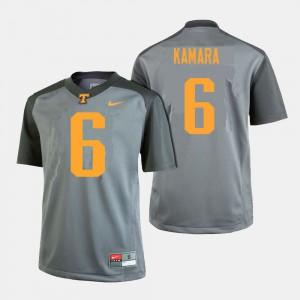 College Football #6 Mens Alvin Kamara UT Jersey Gray 946148-120