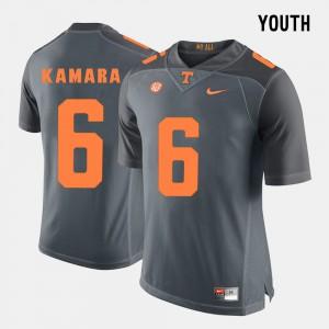 For Kids #6 College Football Alvin Kamara UT Jersey Grey 260496-718