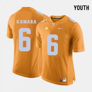 Youth College Football Orange Alvin Kamara UT Jersey #6 671321-910