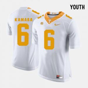 College Football White For Kids #6 Alvin Kamara UT Jersey 558585-169