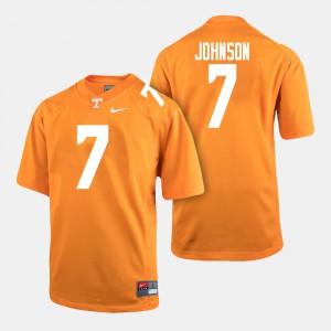 #7 Brandon Johnson UT Jersey College Football Men's Orange 801832-289