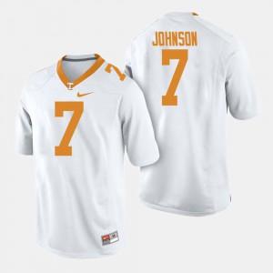 Mens College Football White #7 Brandon Johnson UT Jersey 850339-333