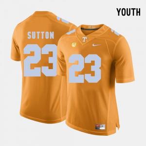 Cameron Sutton UT Jersey #23 College Football Youth(Kids) Orange 236785-164