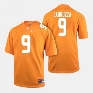 Men #9 Cheyenne Labruzza UT Jersey College Football Orange 176330-495