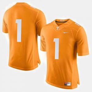 #1 College Football For Men's Orange UT Jersey 614010-322