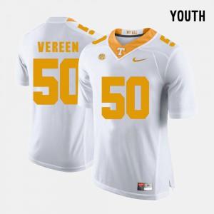 White #50 Youth Corey Vereen UT Jersey College Football 517006-629