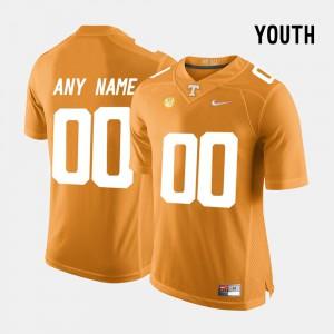 UT Custom Jersey Youth(Kids) College Limited Football #00 Orange 877054-850