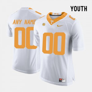 College Limited Football UT Customized Jerseys White #00 For Kids 875646-933