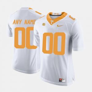 College Limited Football UT Custom Jerseys Men #00 White 567413-981