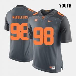 Daniel McCullers UT Jersey Kids Grey College Football #98 909031-618