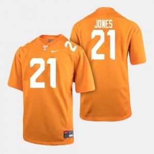 College Football Jacquez Jones UT Jersey #21 Mens Orange 319970-608