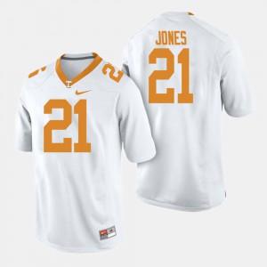 White Jacquez Jones UT Jersey #21 For Men College Football 890347-264