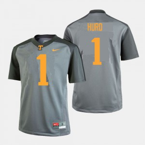 #1 Mens Jalen Hurd UT Jersey College Football Gray 550008-973