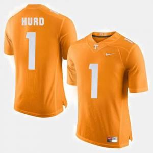 College Football Orange For Men's Jalen Hurd UT Jersey #1 875443-184