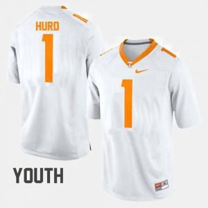 College Football #1 Kids White Jalen Hurd UT Jersey 826404-680
