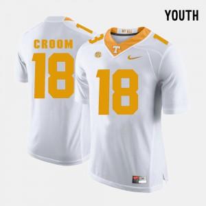 For Kids College Football Jason Croom UT Jersey White #18 853425-917