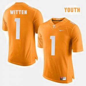 Jason Witten UT Jersey Orange College Football #1 Youth(Kids) 793421-175