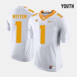 #1 College Football Jason Witten UT Jersey Youth White 563463-766
