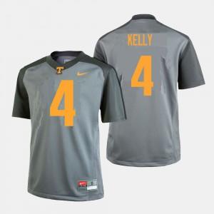John Kelly UT Jersey #4 Gray For Men College Football 607114-282