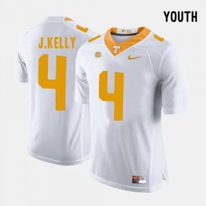 White John Kelly UT Jersey #4 Youth College Football 409337-327