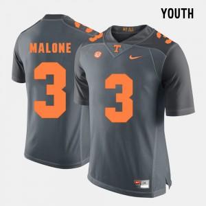 Josh Malone UT Jersey Youth Grey #3 College Football 277191-893