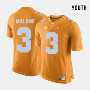 Orange College Football Josh Malone UT Jersey #3 Youth 131497-766