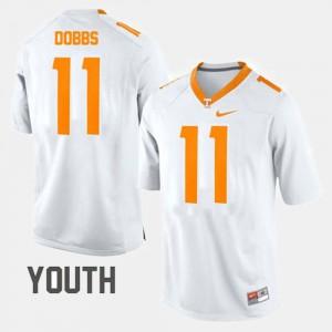 Youth College Football #11 Joshua Dobbs UT Jersey White 697360-535