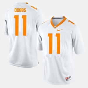 #11 Joshua Dobbs UT Jersey White For Men College Football 774760-450