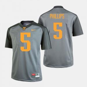 College Football For Men Gray Kyle Phillips UT Jersey #5 344820-254