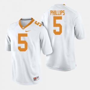 #5 College Football White Men Kyle Phillips UT Jersey 569032-661