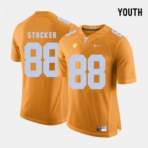 For Kids College Football #88 Orange Luke Stocker UT Jersey 837043-920