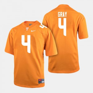 College Football Maleik Gray UT Jersey Mens Orange #4 374811-201