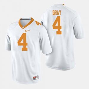 College Football #4 White Men's Maleik Gray UT Jersey 948435-213