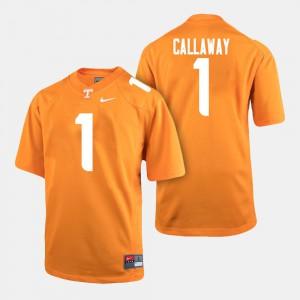 College Football Orange Men #1 Marquez Callaway UT Jersey 423302-118