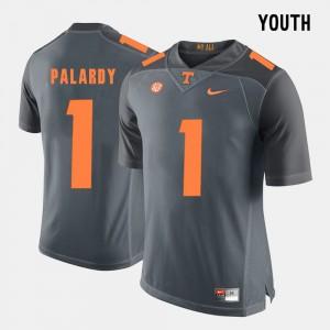 Youth(Kids) Grey #1 College Football Michael Palardy UT Jersey 334410-559